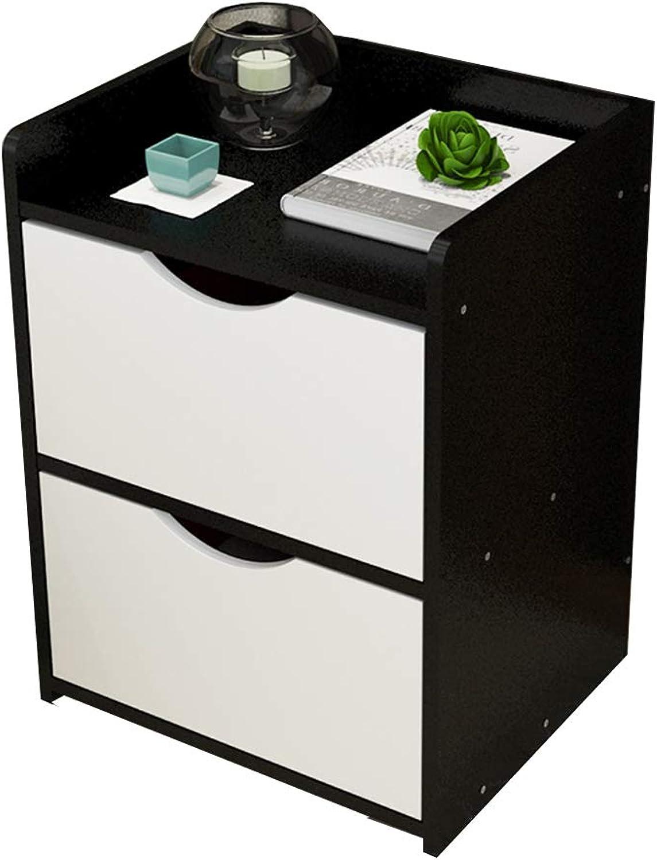 Lagerregal ZHIRONG Schlafzimmer Mbel Nachttisch mit 1 Schubladen Schrank (Farbe   SCHWARZ)
