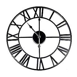Roman Numeral Wall Clock | Metal Wall Clock | Decorative Accessories | Living Room Accessories | Battery Powered Kitchen Clock | M&W