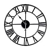 Römische Ziffer Wanduhr | Wanduhr aus Metall | Dekoratives Zubehör | Wohnzimmerzubehör | Batteriebetriebene Küchenuhr | M&W