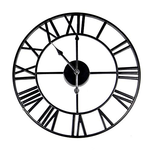 Número romano reloj de pared | Reloj de pared de metal | Accesorios decorativos |...