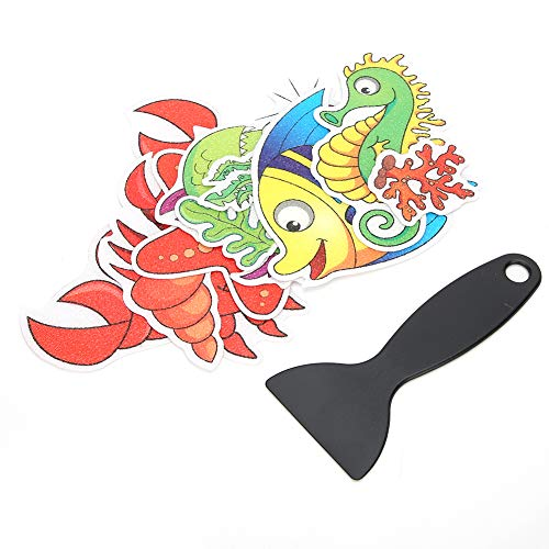 Yinhing Pegatinas de bañera Antideslizantes, Animal de Dibujos Animados Lindo baño Pegatina Antideslizante Bañera Impermeable Escaleras Ducha Pegatinas de Piso utilizadas para bañera