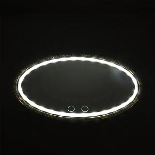 VICASKY Pala de Do Carro Espelho Com Luzes LED Cosméticos Maquiagem Espelho de Vaidade Espelho Espelho De Controle de Toqu...