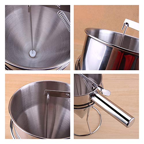 Stainless Steel Funnel Octopus Balls Tools With Handle & Rack, Pancake Batter Dispenser, Waffle Batter Dispenser, Pancake Maker Cooking Tools