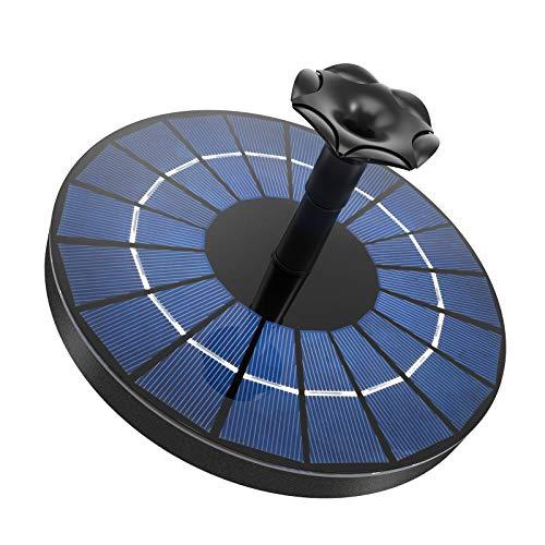 Ankway Fontana Solare con Batteria 1500mAh, Pompa Laghetto Solare da 3,5w Aggiornata, Pompa Acqua Solare per Esterno Giardino Piscina Cascata Ricircolo Acqua