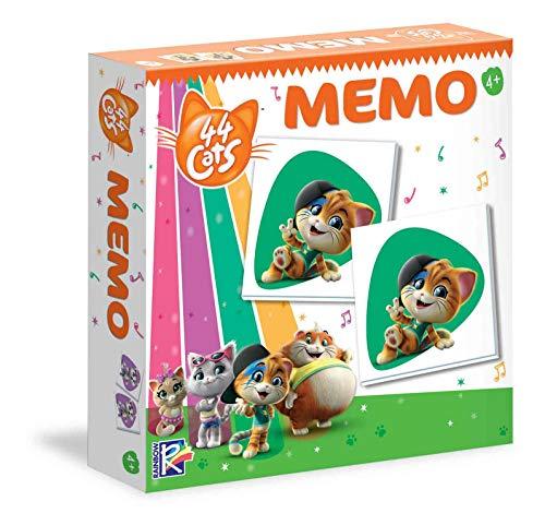 Clementoni - 18049 - Memo - 44 Gatti, gioco di memoria e associazione, memory animali - gioco educativo bambini 3 anni, gioco da tavolo per bambini - Made in Italy
