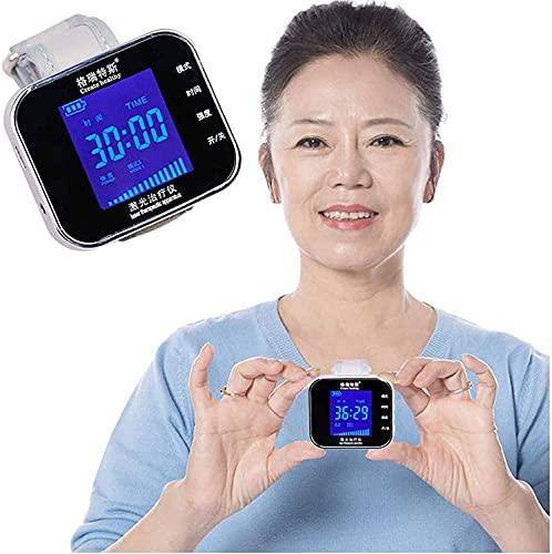 KELITINAus Muñeca de la Terapia de Onda Ligera 650Nm para la Hipertensión de la Diabetes Purificar el Tratamiento de la Sangre Reloj de la Sinusitis Iluminador