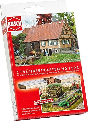 Busch 1523 Hotbeds en Bois/Compost Ho Paysage Echelle Modèle