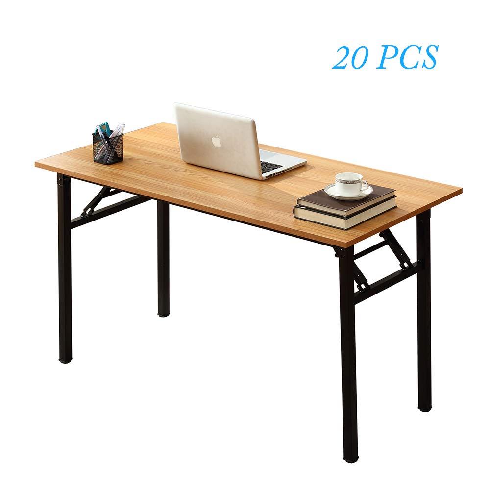 Escritorio plegable para ordenador de madera de teca, 47,2 x 23,6 pulgadas, 1 por caja, 20 cajas/palé: Amazon.es: Oficina y papelería