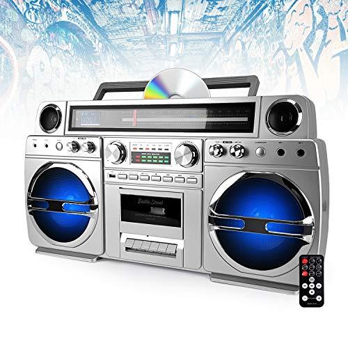 Ghetto-Blaster Portable Bluetooth avec Lecteur CD/Cassette - 60W - USB - Battle-Street