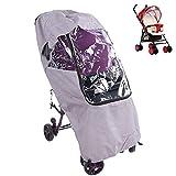 Cubierta de lluvia universal para cochecito de bebé, cubierta de cochecito a prueba de agua y polvo a prueba de viento Protector de clima de viaje para bebé(#1)