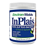 InPlais Non-Slip Area Rug Backing (16 oz.) Fabric & Floor Safe Latex Layer | Easy, Paint-On Application Liquid | Kitchen, Bathroom, Hallway, Living Room | Dries Quickly
