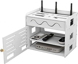 Phonleya WiFi Router Organizar Caja Decodificador Rack Panel de Conexión Estante de Almacenamiento Ocultador Cable Gestión...