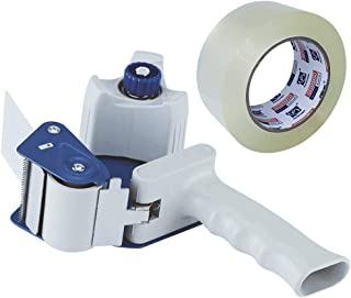 "Packing Tape Gun for 2"" Width Tape, Plus 1 Roll of Packing Tape 1.88"" x 50M, Perfectape Brand"