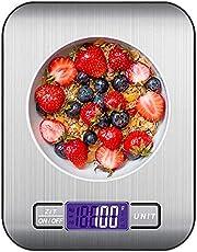 Keukenweegschaal Digitale 10KG, Digitale Keukenweegschaal Gram Küchenwaage Huishoudelijke Schaal met LCD Display Letter Schaal Digitale Kitchen Scale Zilver