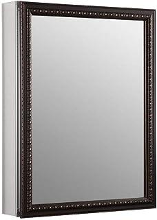 KOHLER K-2967-BR1 20 inch x 26 inch Aluminum Bathroom Medicine Cabinet with Oil-Rubbed Bronze Framed Mirror Door; Recess o...