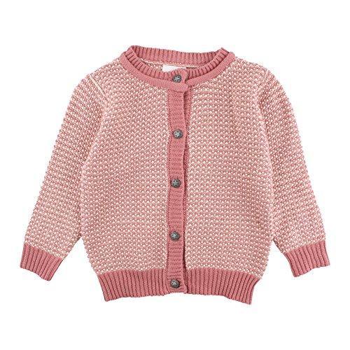 EN FANT Baby Strickjacke Cardigan mit Kapuze für Jungen und Mädchen in Blau oder Rosa
