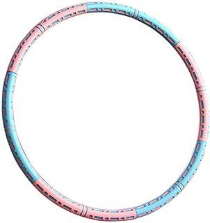 Fitness Hula Hoops, inbyggd 304 rostfritt stål/bekvämt tjockt skum/lång vändning utan att skada midjan och buken/94 cm sto...