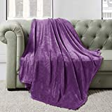 BEDELITE Fleece Blankets Purple Throw Blankets for Couch & Bed, Plush Cozy Fuzzy Blanket 50' x 60', Super Soft & Warm Lightweight Throw Blankets for Spring and Summer