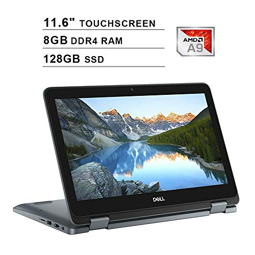 2019 Newest Dell Inspiron 11 3195 2-in-1 11.6 Inch Touchscreen Laptop (AMD A9-9420e up to 2.7GHz, 8GB DDR4 RAM, 128GB SSD, AMD Radeon R5, WiFi, Bluetooth, HDMI, Windows 10)