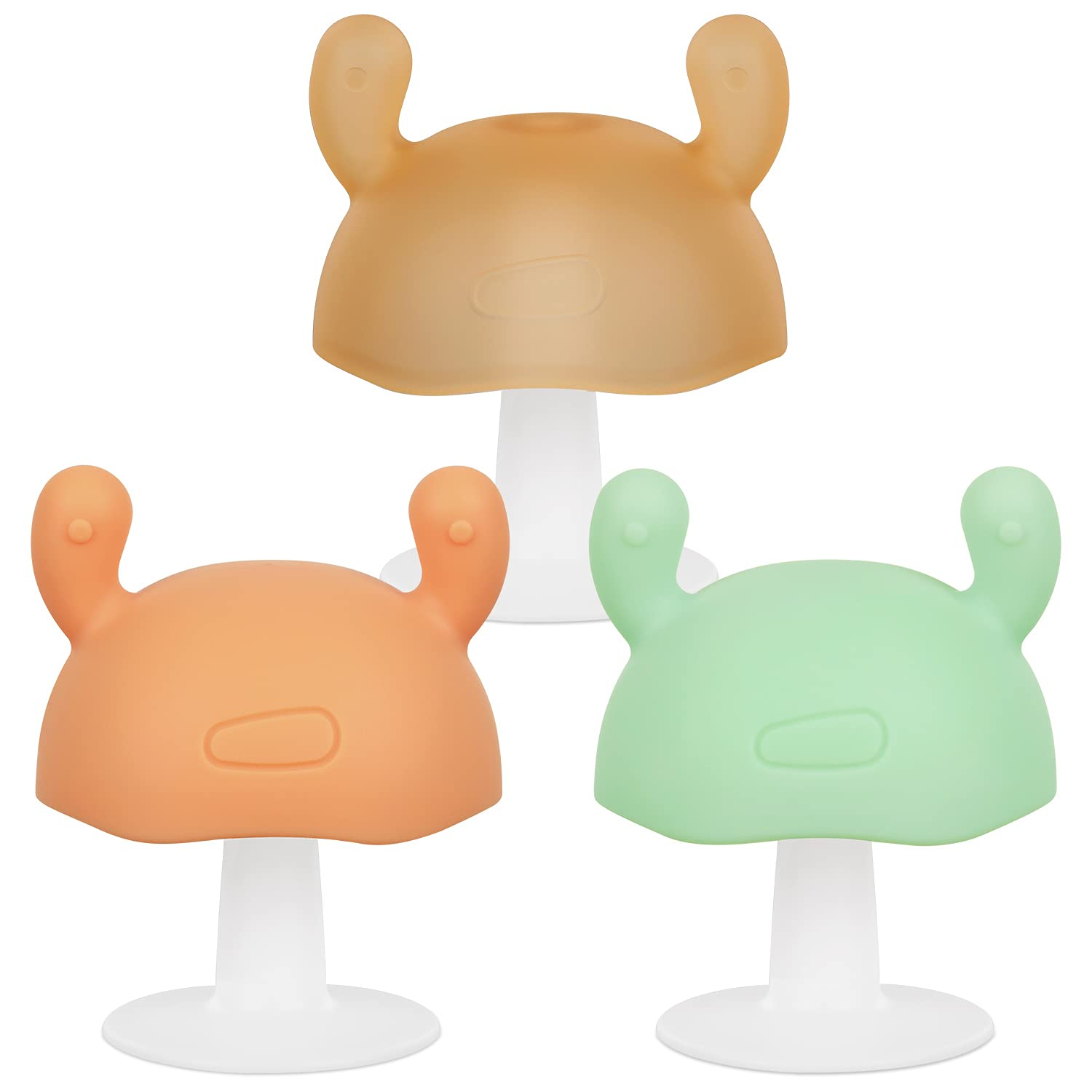 Eco inspired Baby Max 46% OFF Mushroom Teether Limited time for free shipping Frog Mushroo Toy - Silicone