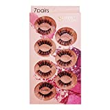 3D Faux Mink False Eyelashes Lot 7pairsNatural and Ultra Stereo Eyelashes Set Monday To Sunday, Reuseable Various Look Everyday (GM-Thursday)