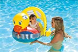 Poolmaster 81547 Learn-to-Swim Swimming Pool Float Baby Rider with Sun Protection, Duck