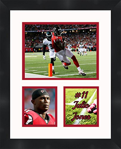 Julio Jones - Atlanta Falcons, Framed 11 x 14 Matted Collage Framed Photos Ready to Hang