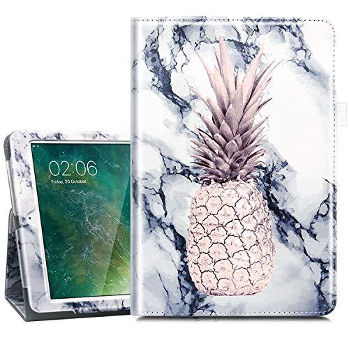 Dailylux iPad Mini Case,iPad Mini 2 Case,iPad Mini 3 Case,Glitter Sparkly PU Leather Folio Stand Smart Cover Stylus Holder Case for Apple iPad Mini 1/2/3,Auto Sleep/Wake,Marble Pineapple