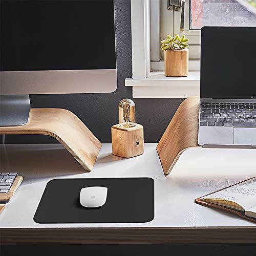 Mouse Pad with Stitched Edge 3 Pack, 30% Larger Gaming Mouse Pad with Non-Slip Rubber Base, Washable Mousepads Bulk with Smooth Surface, Comfortable Mouse Pads for Laptop,Office 11x8.7x0.12in, Black Photo #6