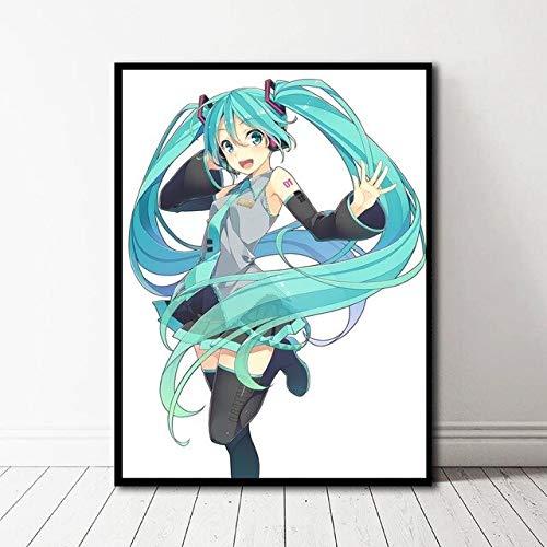 baodanla Geen frame Muur ng Anime Hatsune Miku Sticker Picture Home Decor Volledige Vierkante Boor Kraal Werk