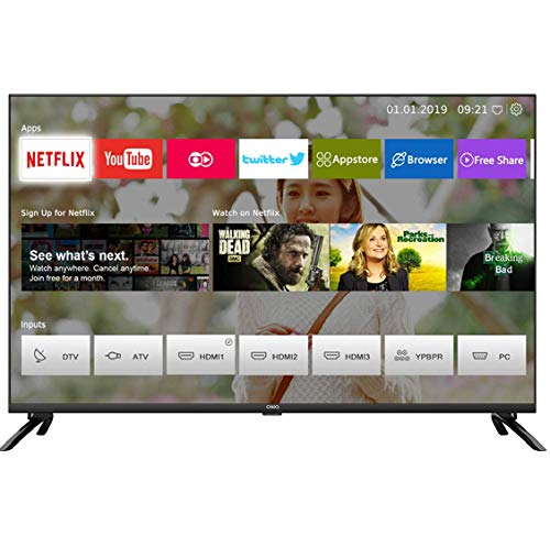 CHiQ U50H7L UHD 4K Smart TV, 50 Pouces, HDR10/hlg, WiFi, Bluetooth, Prime Vidéo, Netflix 5,1, Youtube Kids,Chromecast Built-in,...