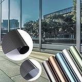 KINLO - Lámina de protección solar para ventana, antirrayos UV, autoadhesiva, sin pegamento, muchos colores (45 x 200 cm), diseño de cuadros negros