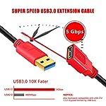 LSYTASG-Cavo-Prolunga-USB-30-Maschio-A-Femmina-A-5Gbps-Cavo-Estensione-USB-30-Placcato-Oro-per-Chiavetta-USB-Hub-USB-Disco-Rigido-Esterno-Tastiera-Mouse-Gamepad-Videocamera-ecc-5M