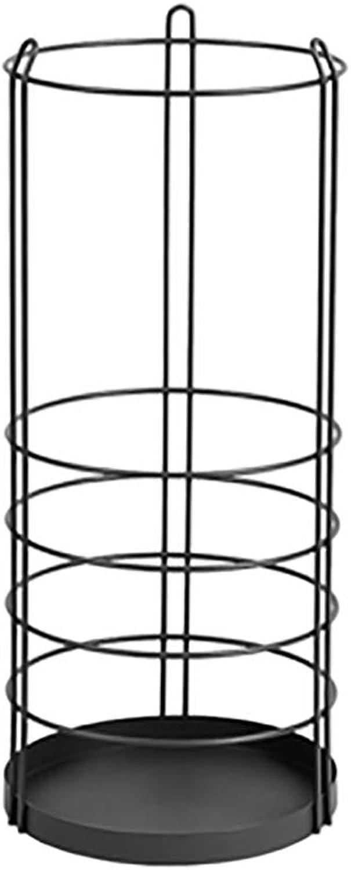 Nordic Iron Art Umbrella Stand The Mall Hotels Umbrella Storage Bucket Shelf (color   Black)