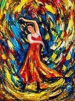 大人のための2000個のジグソーパズル-踊る女性の鮮やかな色とリファレンスポスター-楽しい家族向けゲームや教育玩具ギフト