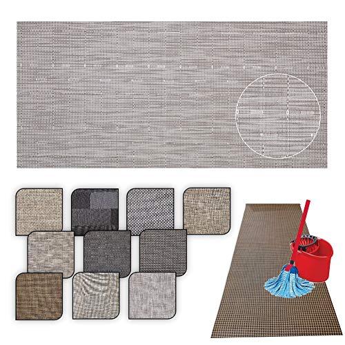 Tappeto passatoia Cucina Lavabile Lucy - antimacchia e Antiscivolo aderisce Perfettamente a Terra Non Piega Si pulisce con straccio - tappeti casa Moderno (50X240, 30)