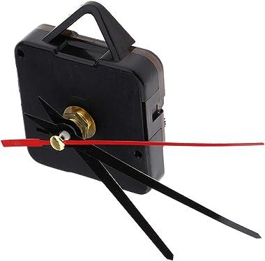Pack of 10 Quartz Wall Clock Movement Mechanisms Battery Powered Clock Kit for DIY Clock Replacement Parts (Black)