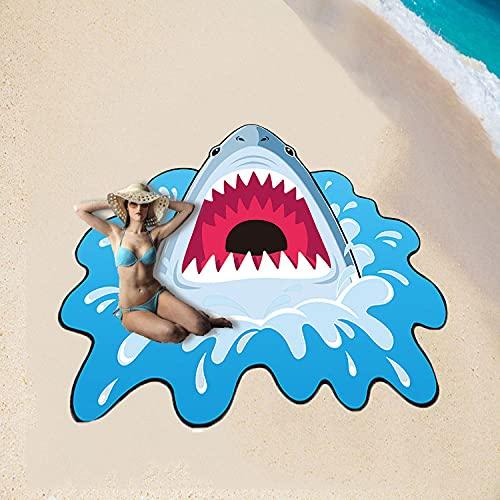 KaO0YaN Toalla de Playa Redonda, Estera de la Yoga de la natación de los Deportes de la Microfibra, Mat-2_150x150cm de la Playa de la Playa al Aire Libre