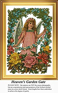 Heaven's Garden Gate, Angels Counted Cross Stitch Pattern (Pattern Only, You Provide the Floss and Fabric)