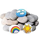 DECORKEY River Rocks for Painting, DIY & Smooth Kindness, Rocks for Arts, Naturally Stone, 2-3inches 5.5 Pounds 24PCS Perfect for Kids Party,Crafts, and Decoration