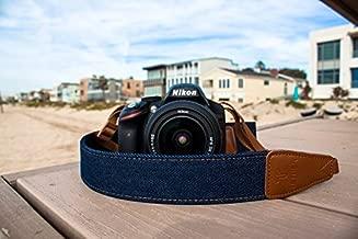 TETHER Navy Blue Denim Camera Strap for DSLR or SLR Camera, DSLR Camera Strap. Camera Accessories. Canon Camera Strap. Nikon Camera Strap, Sony Camera Strap, Leica Camera Strap