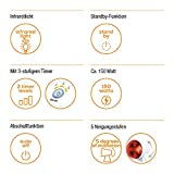 Beurer IL 35 Infrarotlampe, wohltuendes und wärmendes Infrarotlicht zur Steigerung des Wohlbefindens