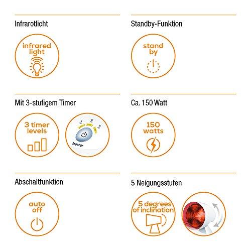 Beurer IL 35 Infrarotlampe wohltuendes  wärmendes Infrarotlicht zur Steigerung des Bild 3*