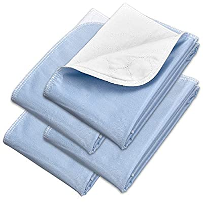 Incontinence Bed Pads - Reusable Waterproof Underpad Chair, Sofa and Mattress Protectors - Highly Absorbent, Machine Washable - for Children, Pets and Seniors (34x36 (Pack of 4), Blue) from Royal Care