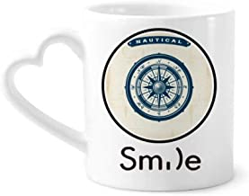 cold master DIY lab Compass Droits Military Ocean Army Smile Pattern Mug Cup Pottery Heart Handle