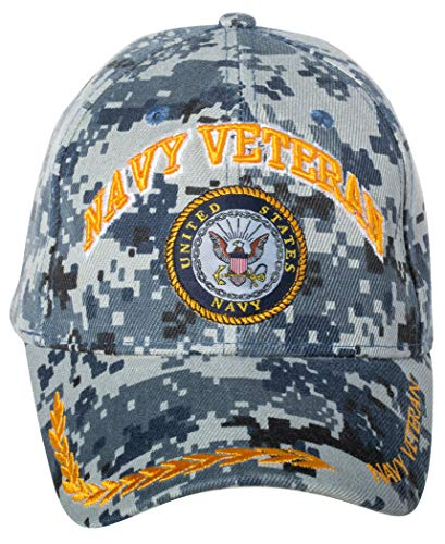 Officially Licensed United States Navy Veteran Digital Camo Embroidered Baseball Cap