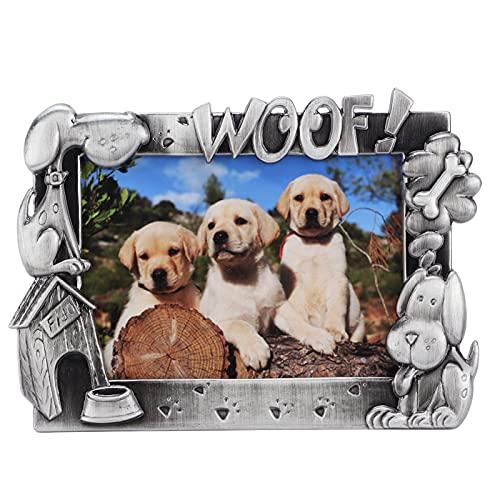 Sxhlseller Marco de Fotos conmemorativo para Mascotas, Regalos para Perros fallecidos, Marco de exhibición de Fotos para Perros y Gatos para Retratos, Amantes de los Animales