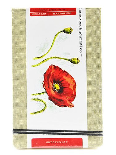 Hand Book Journal Co. Travelogue Watercolor Journals Large Landscape 5 1/4 in. x 8 1/4 in. [PACK OF 2 ]