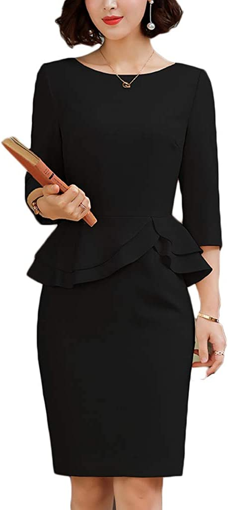 Dress Women's Cocktail Sale SALE% OFF Formal discount Swing High Five-Point Sleeve