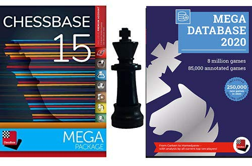 ChessBase 15 Mega Package: ChessBase 15 Chess Database Management Software Program Bundle with Mega Database 2019 & ChessCentral Chess King Flash Drive